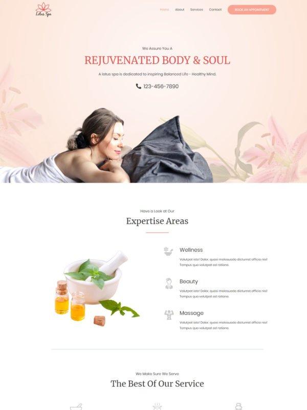 lotus-spa-salon-homepage